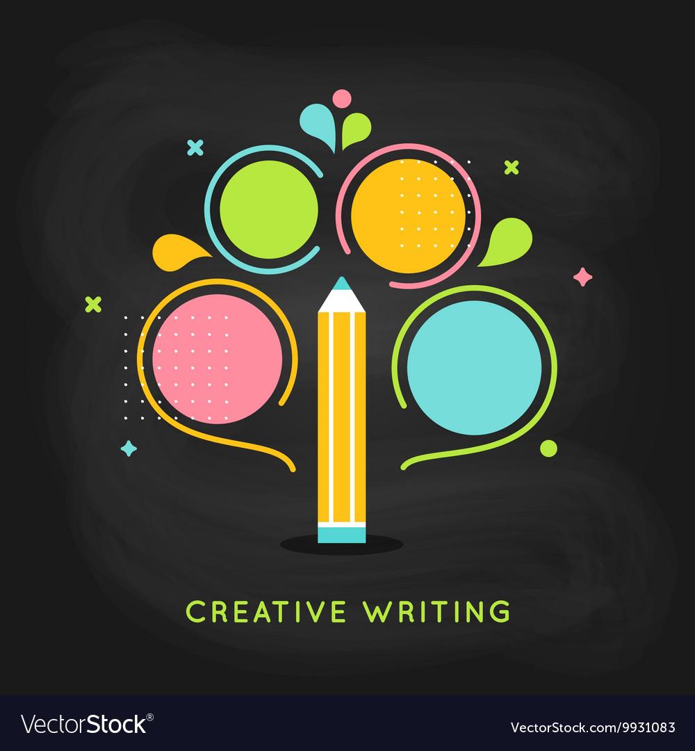 Creative Writing Plan Infographics Template on vector image