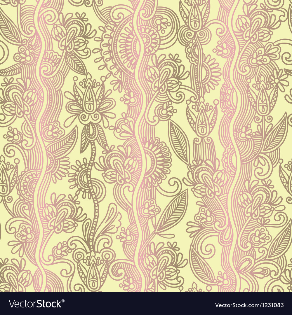 Hand draw ornate floral seamless wallpaper