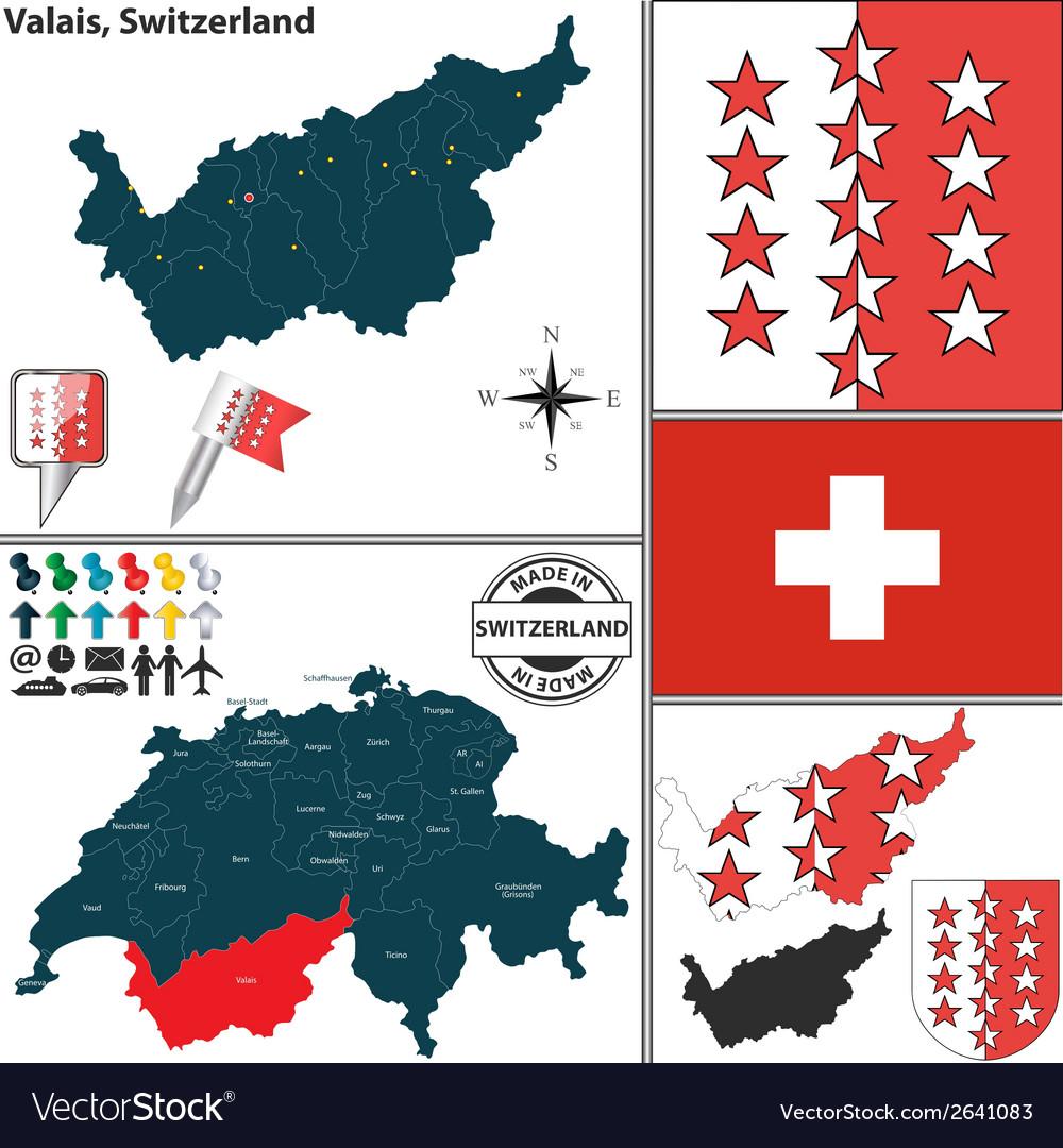 Map of Valais