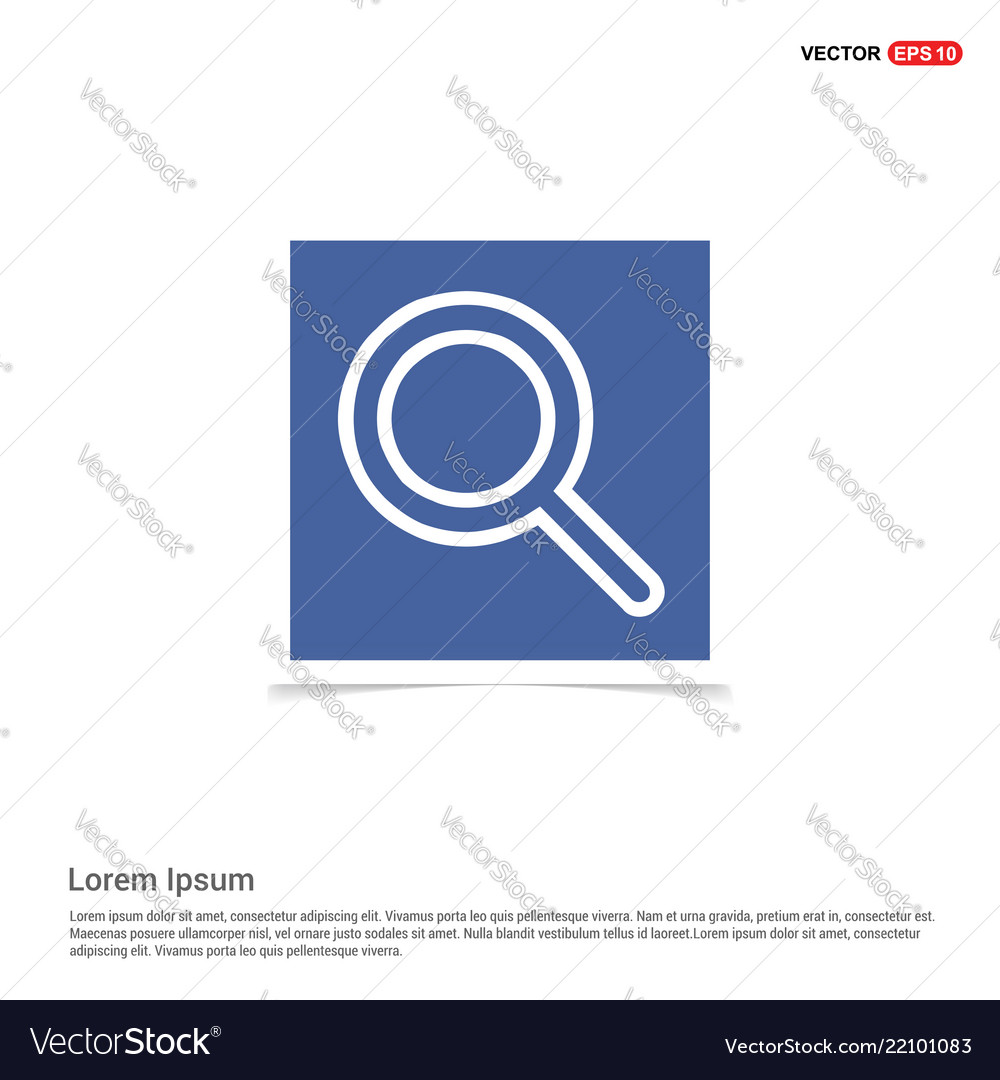 Search icon - blue photo frame Royalty Free Vector Image