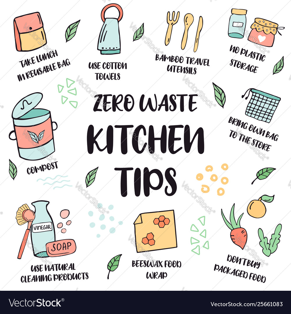 Zero Waste Lifestyle Tips Suggestions For Kitchen
