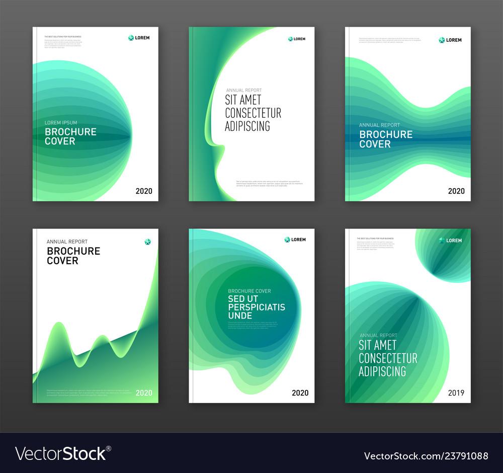 Annual report cover design templates set