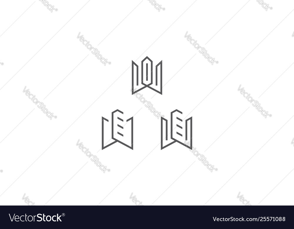 Building line art logo icon