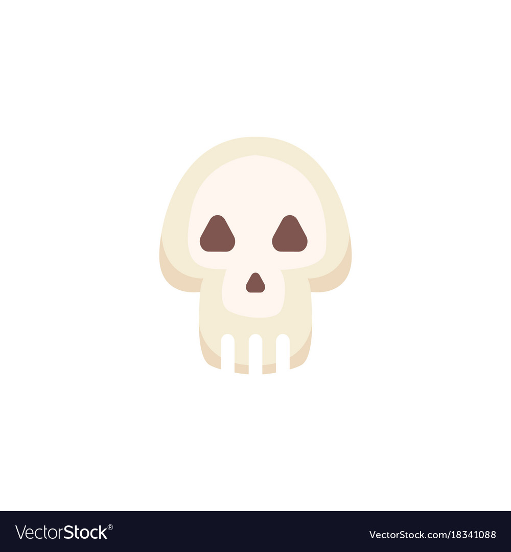 Cartoon skull isolated vector image