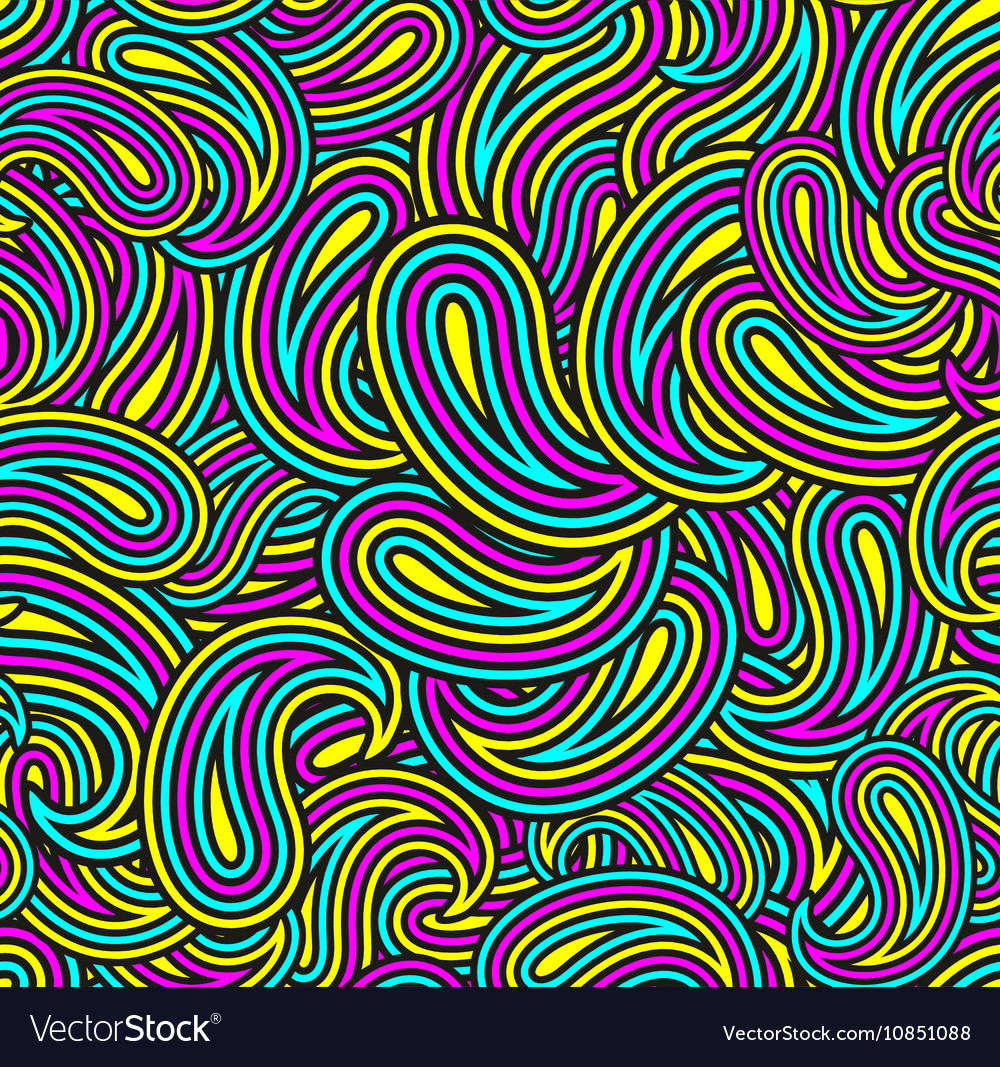 Colorful Seamless Pattern With Abstract Shapes