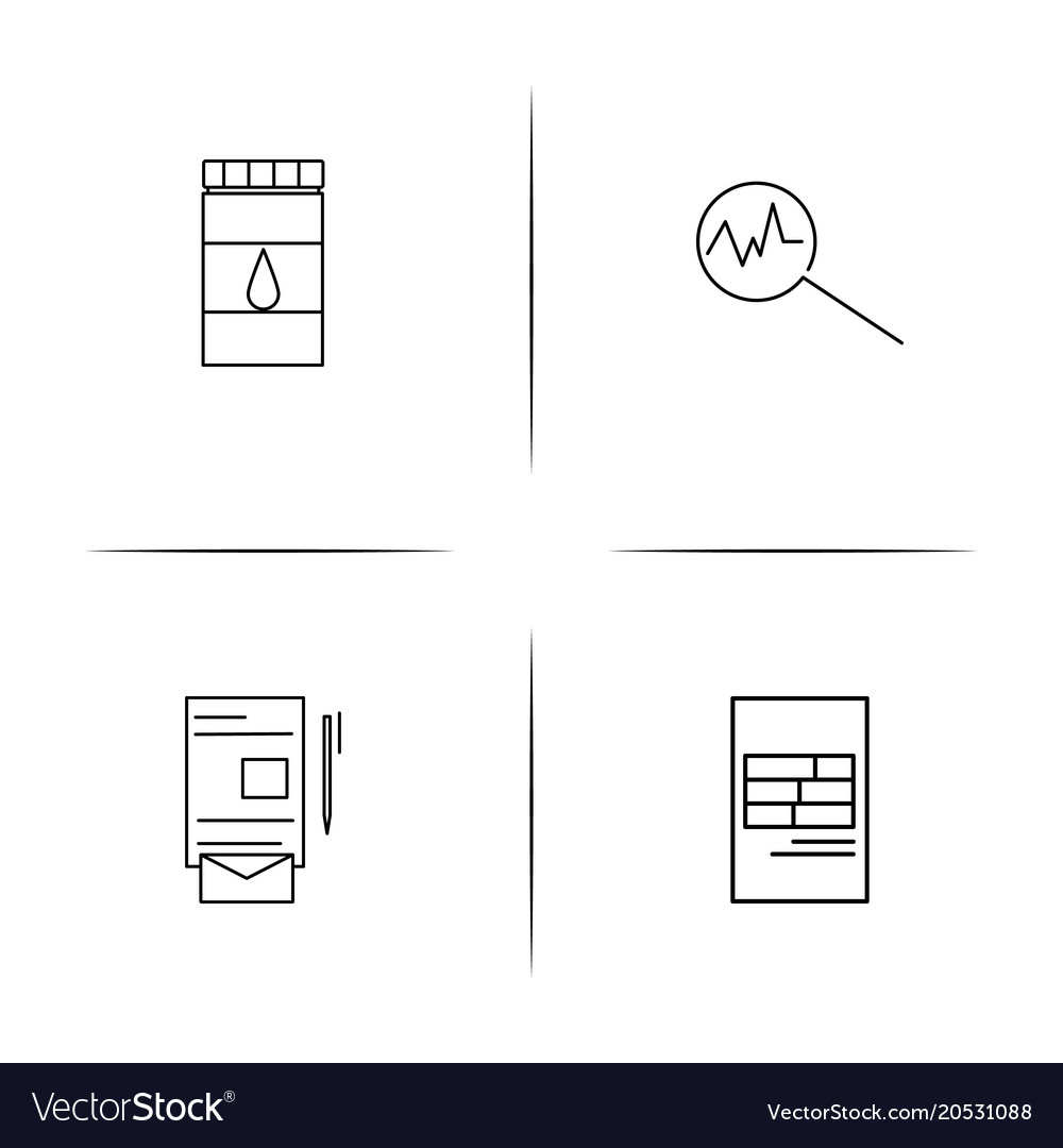 Creative process and design simple linear icons
