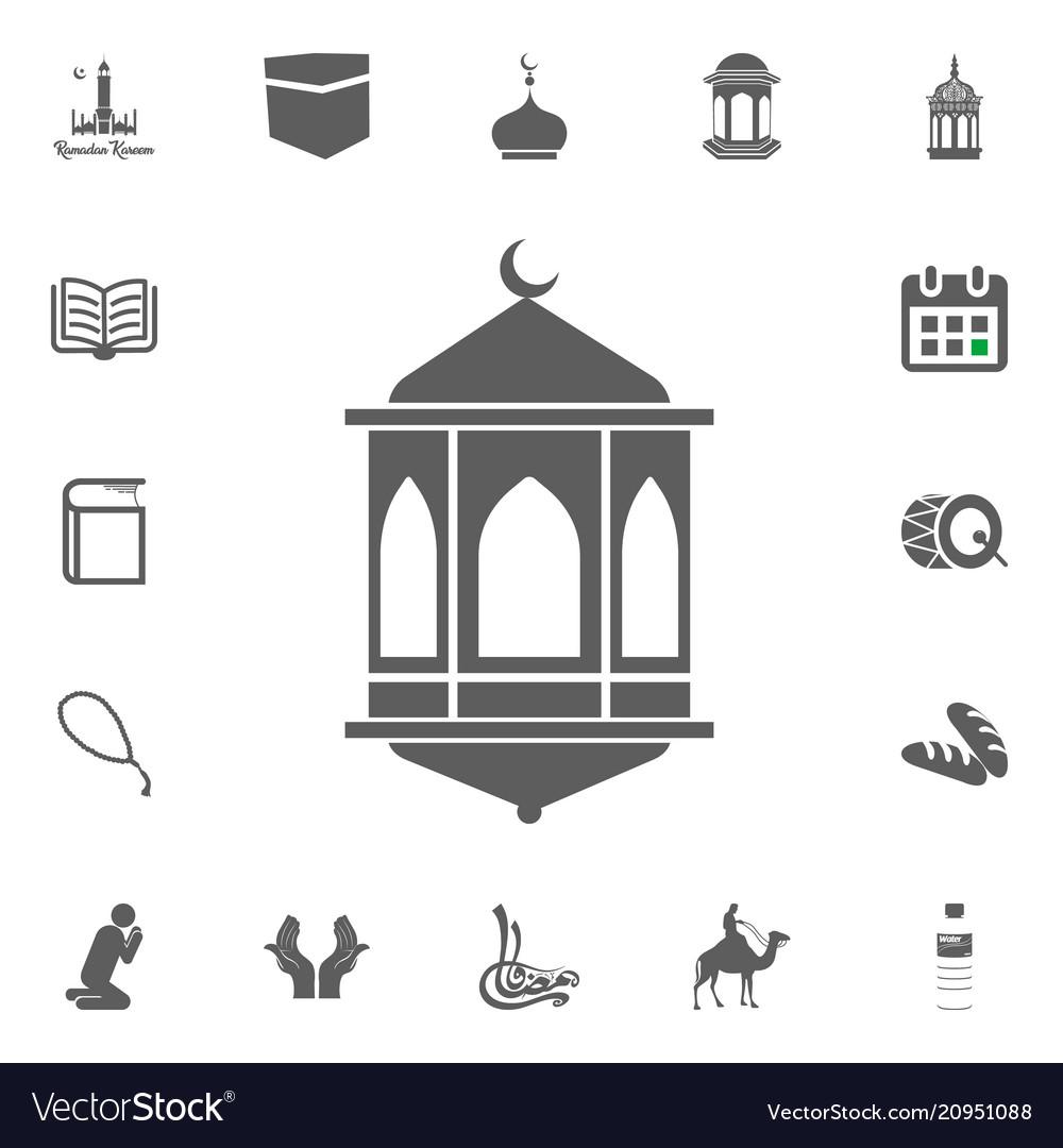 Lantern Icon Ramadan Kareem Eid Mubarak Royalty Free Vector
