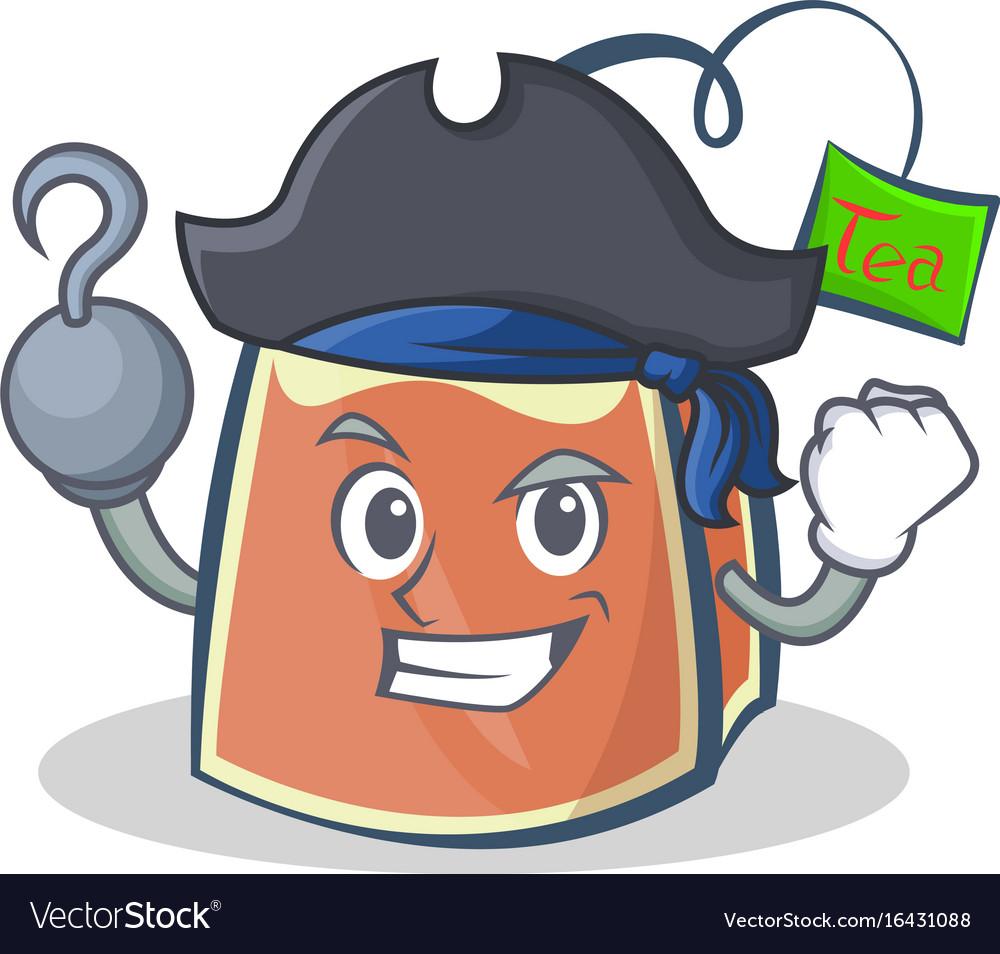 Pirate tea bag character cartoon