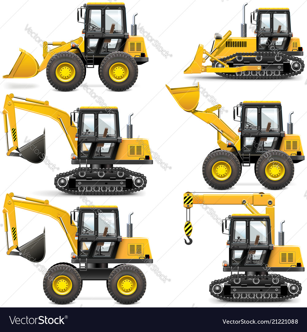 Yellow construction machinery