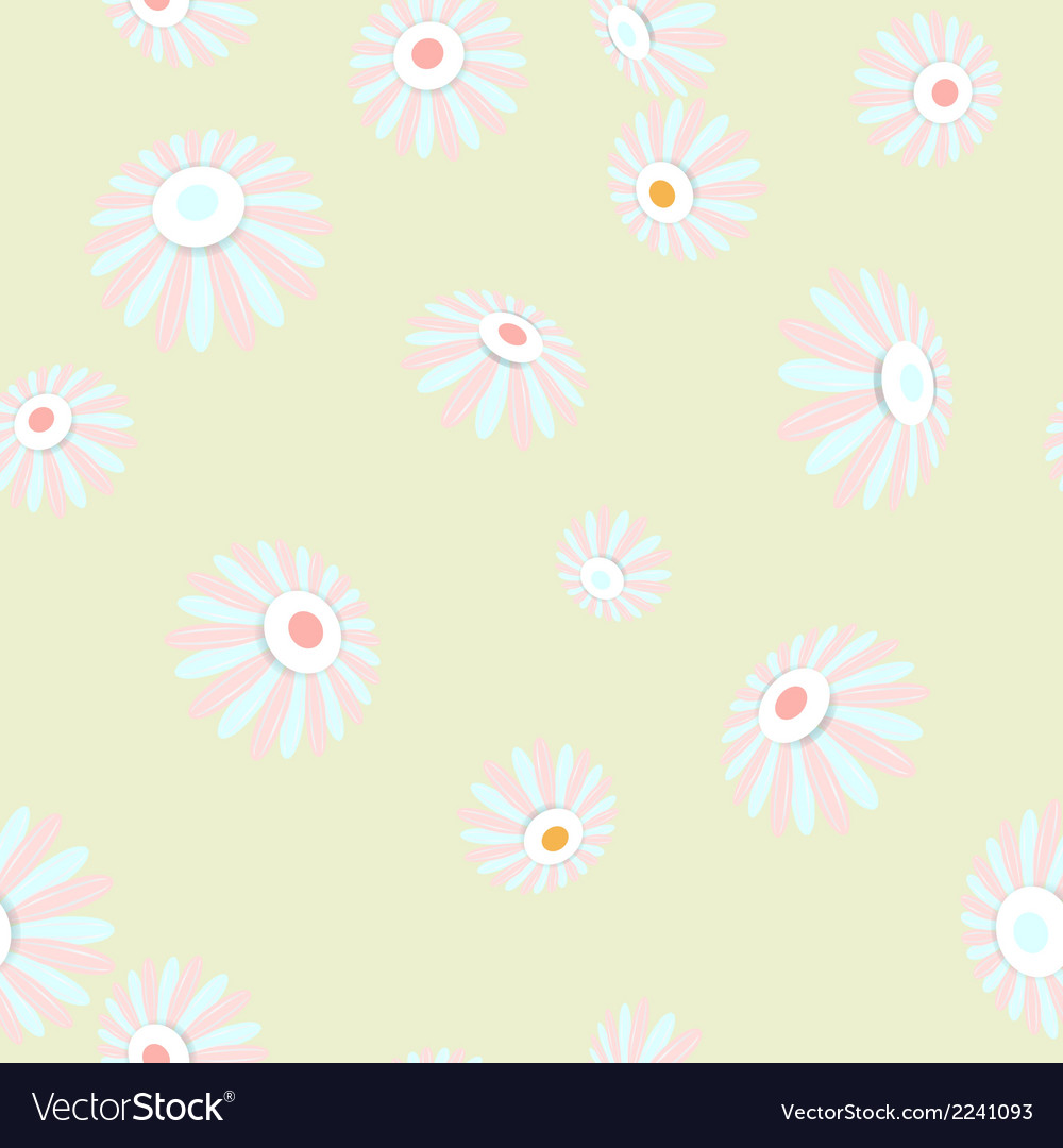 Bright seamless banner with flowers EPS 10