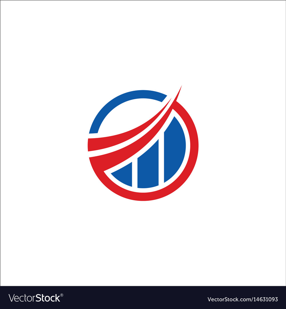 Business finance round trading company logo