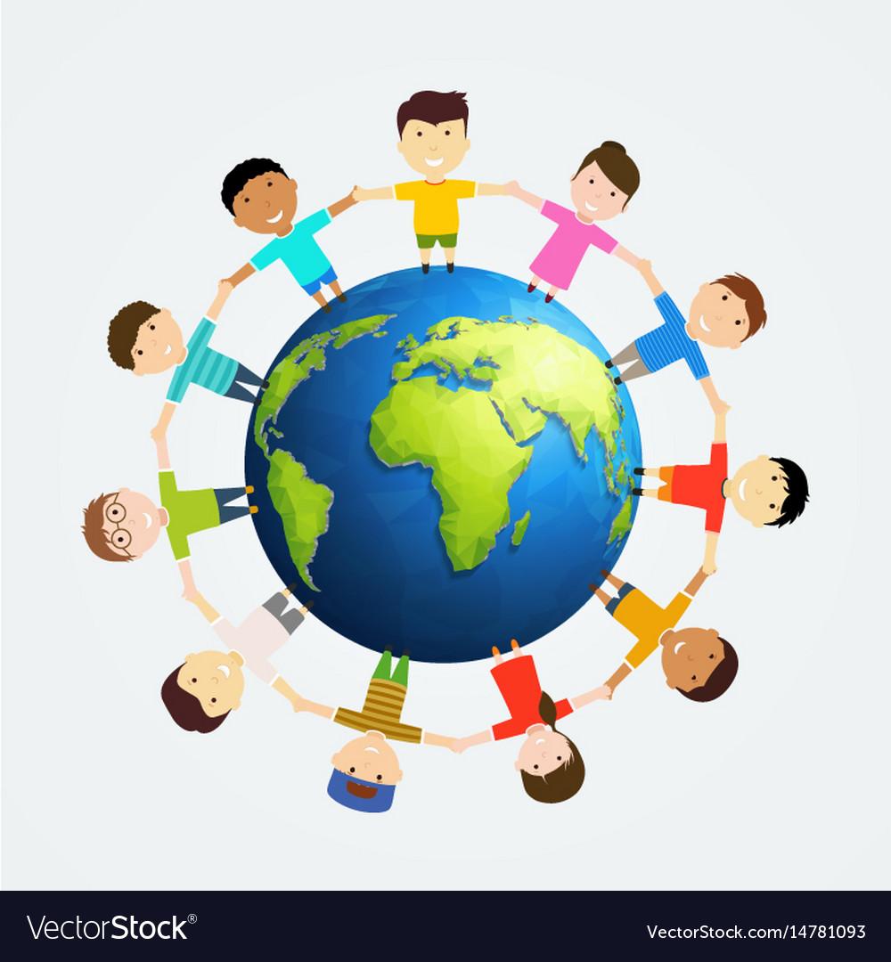 Children around earth