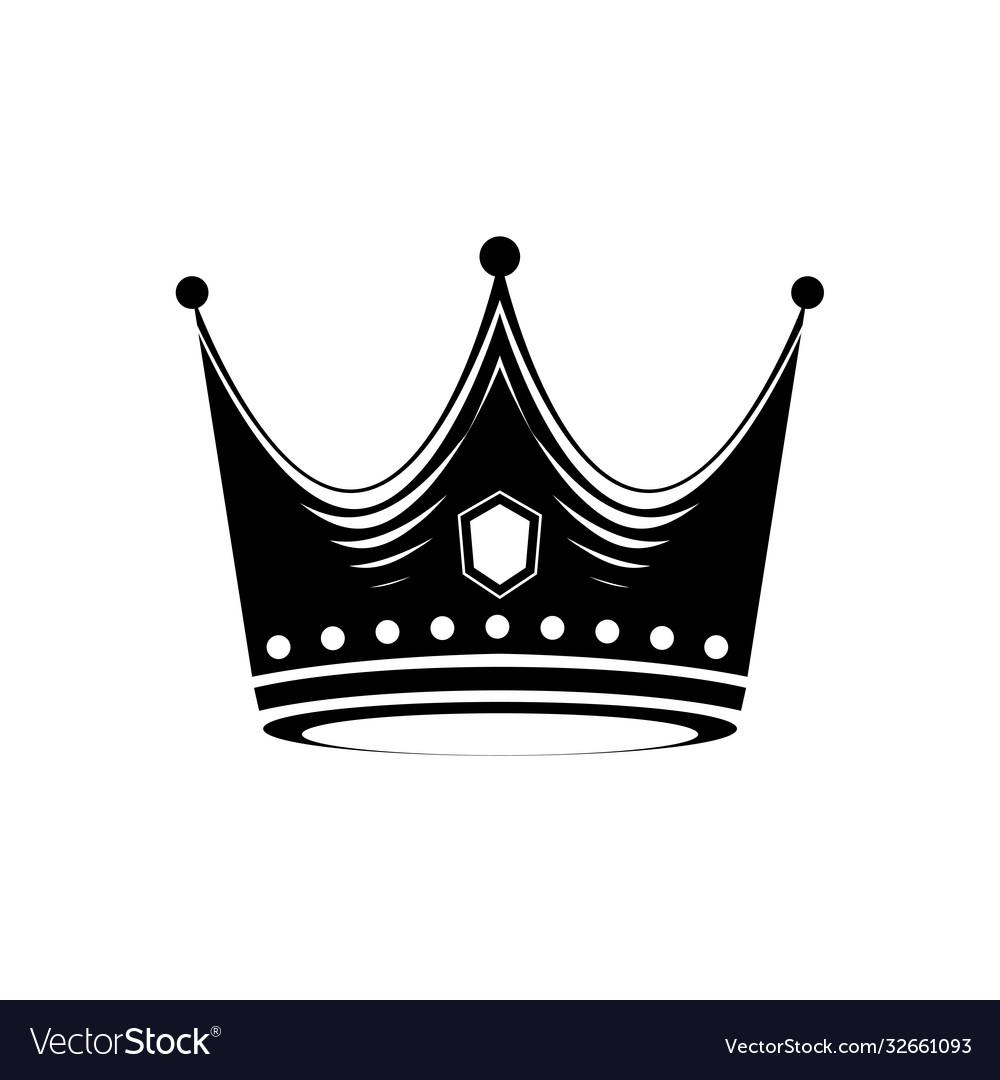 Crown logo design template