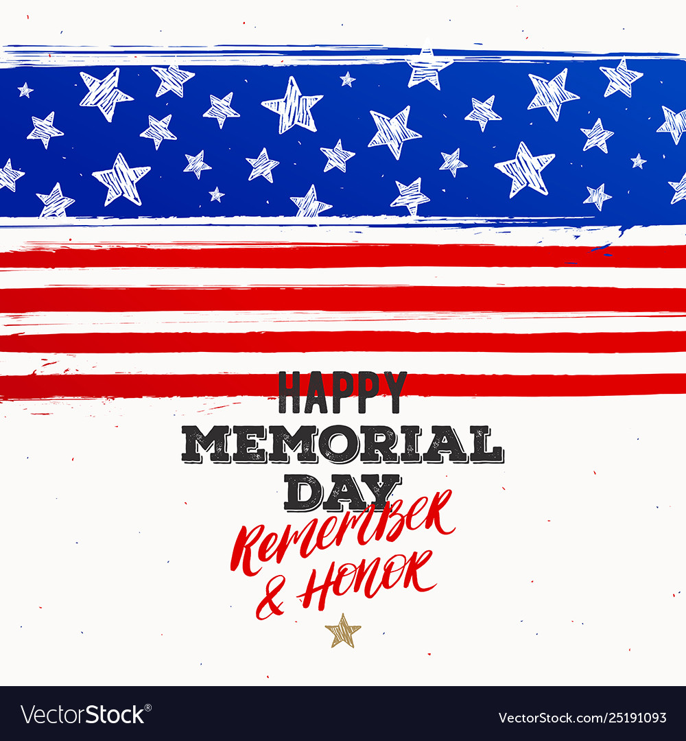 Happy memorial day - national american holiday