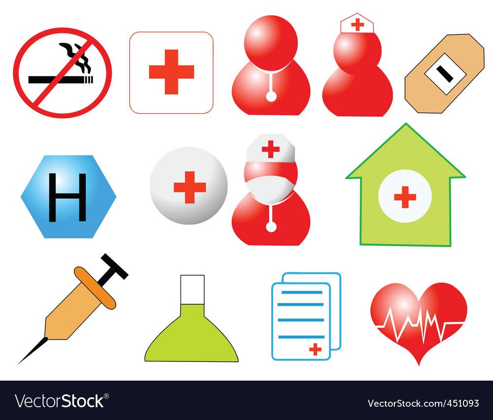 Healthcare design vector image