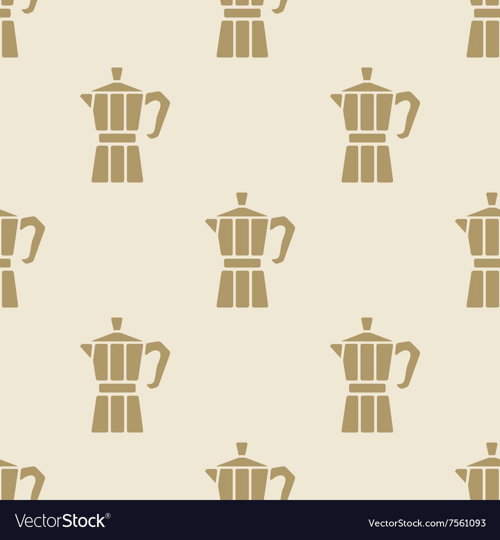Italian Coffee Maker Moca Pattern Tile