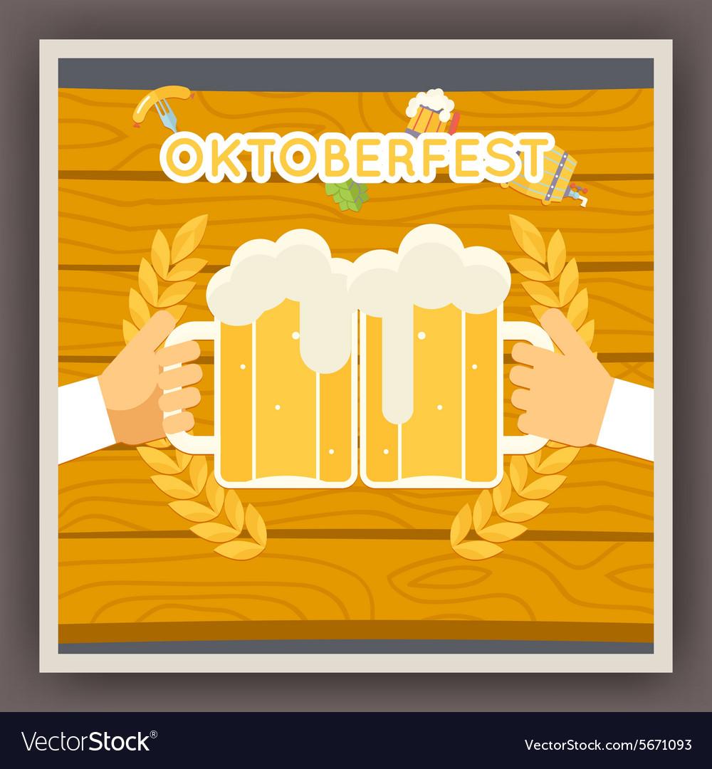 Oktoberfest Festival Celebration Poster Symbol