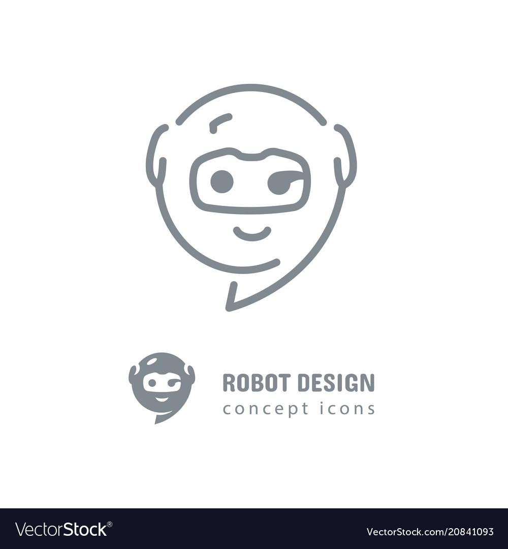 Robot logo golden section logotype mobile