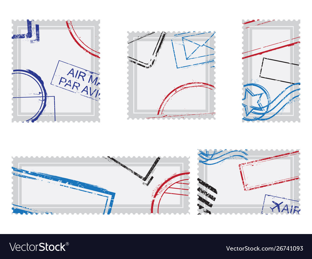 Set post stamps postage stamps