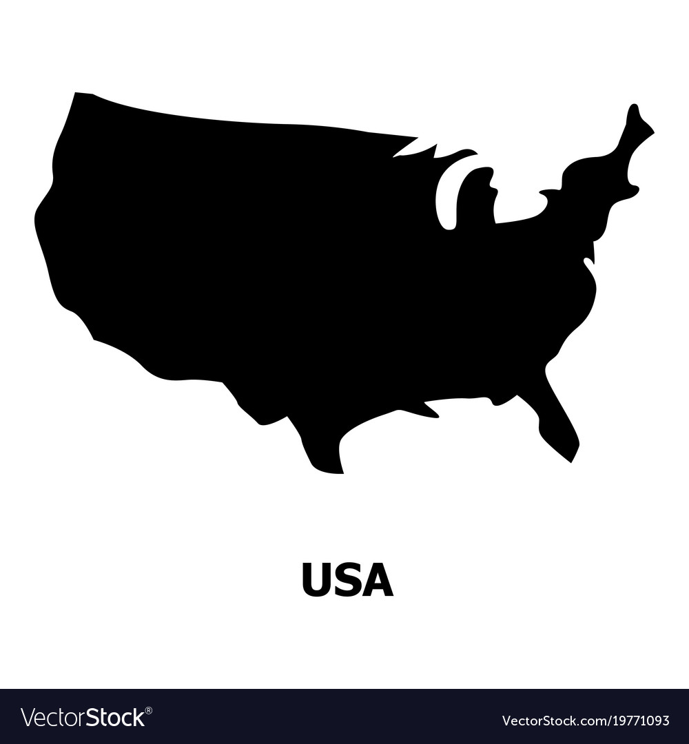 Usa Map Icon Simple Style Royalty Free Vector Image