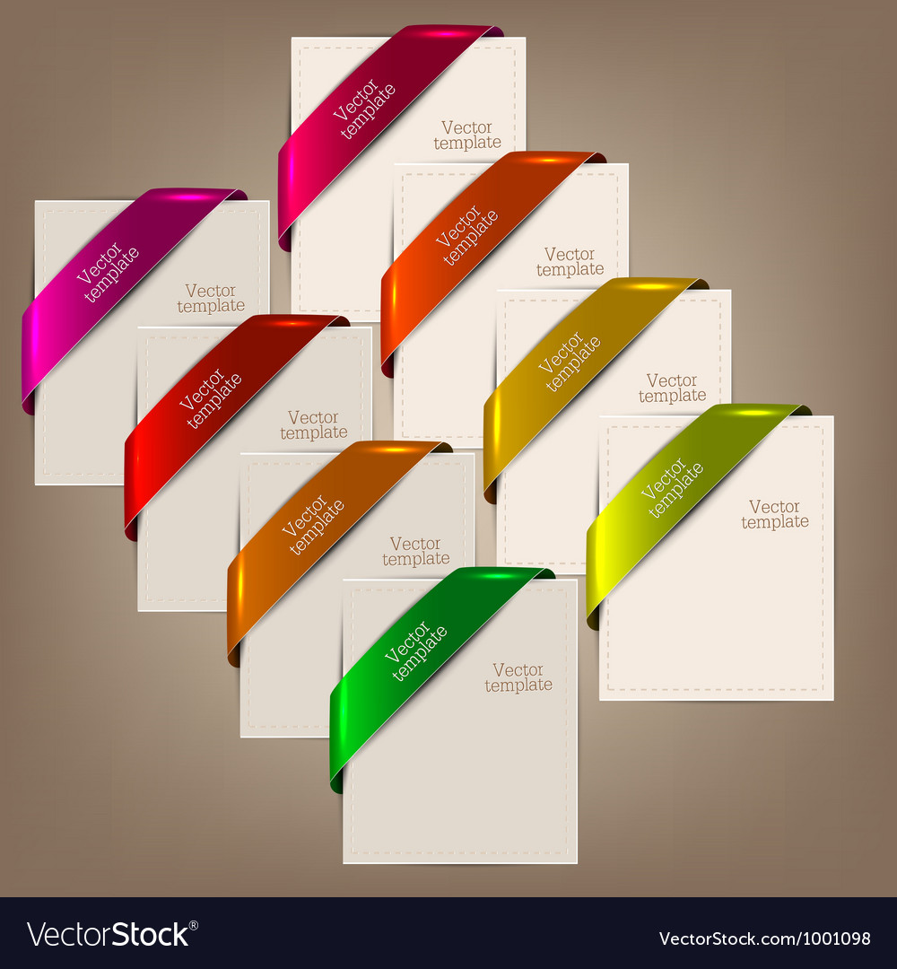 Colorful bookmarks and notes for text vector image