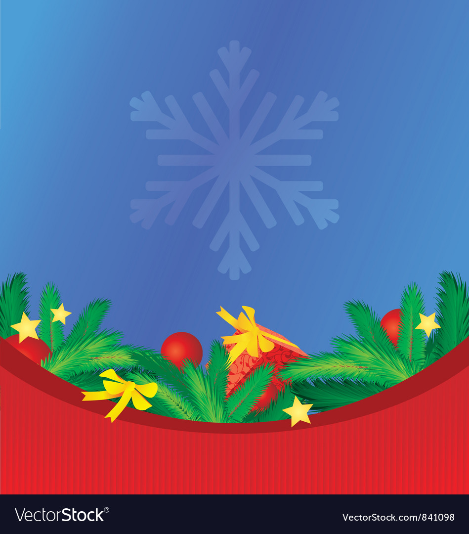 Colorful christmas background with tree brunches