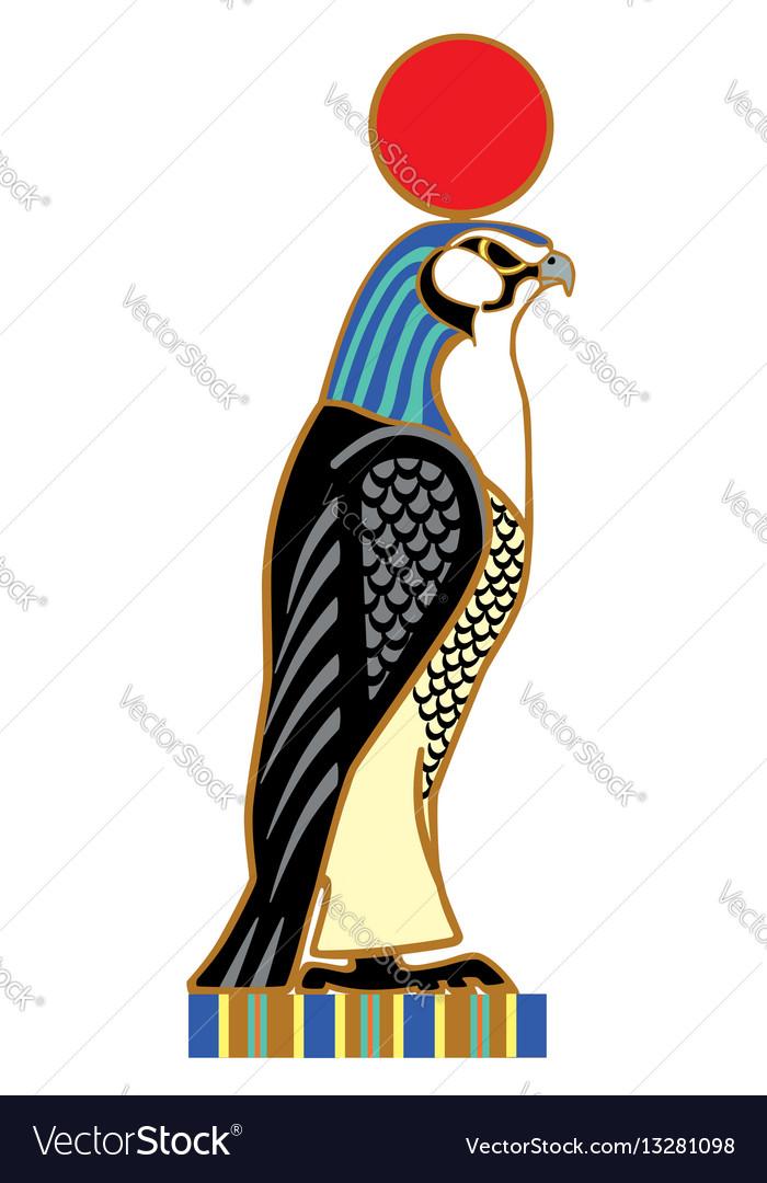 Egyptian Falcon Horus Royalty Free Vector Image