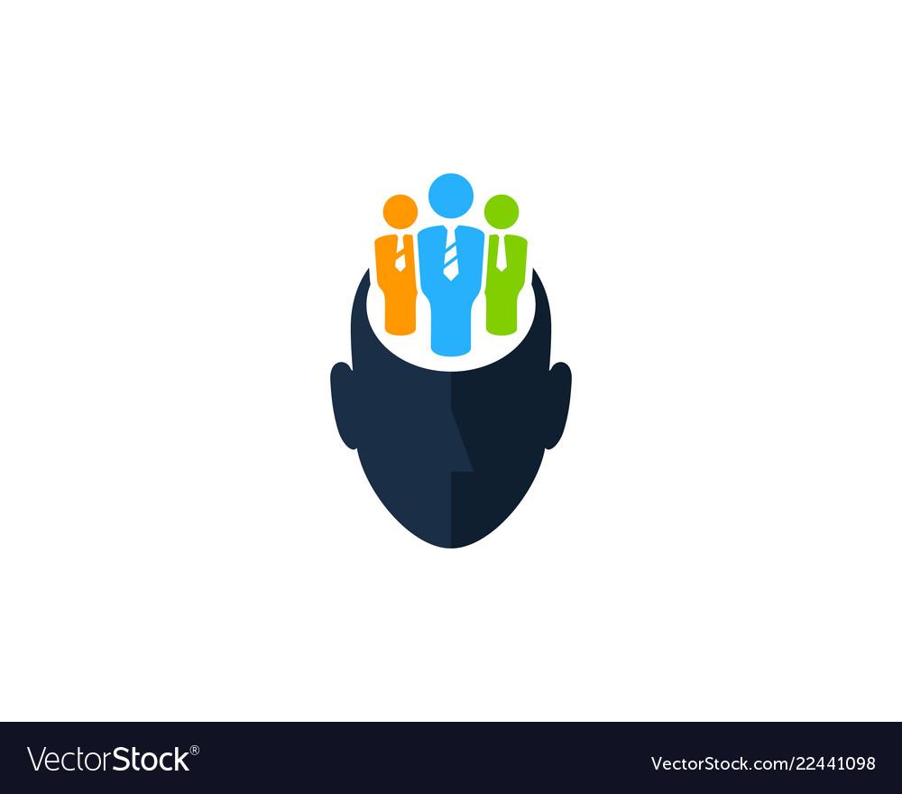 Group human head logo icon design