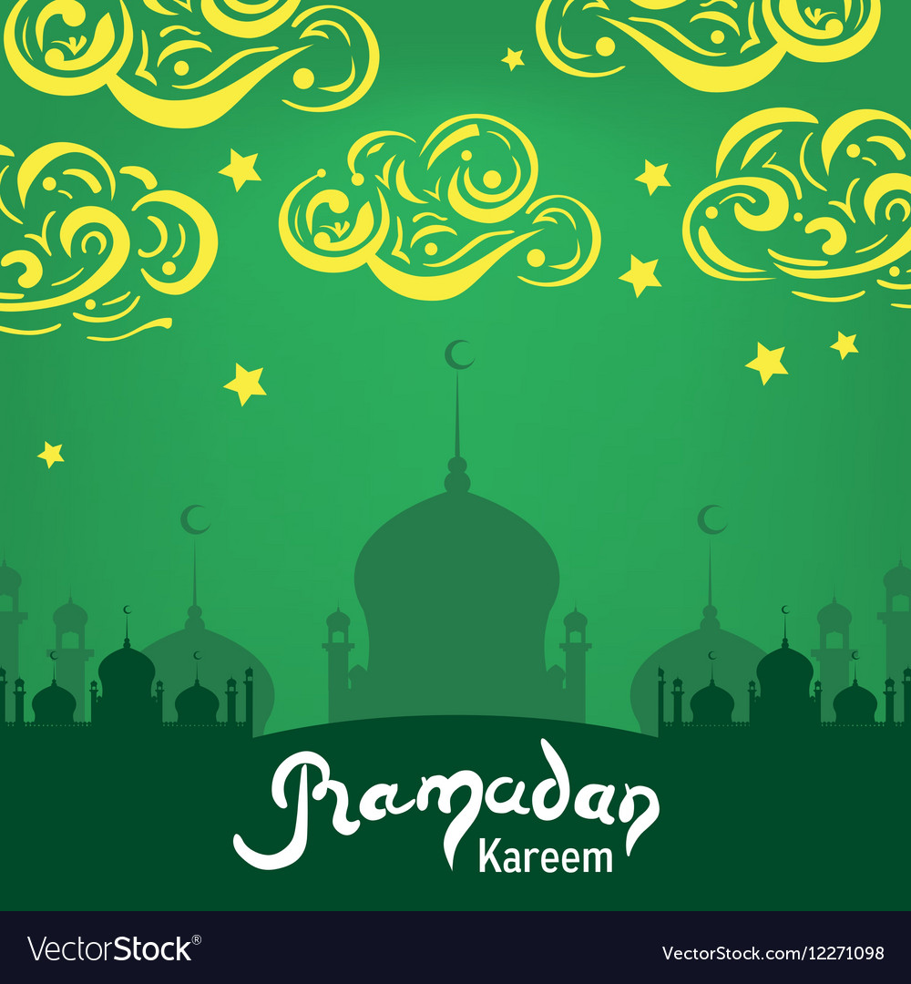 Ramadan Kareem lettering Hand Drawn