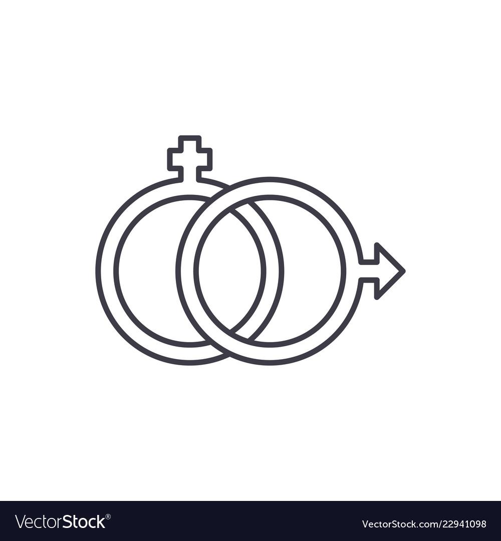Sexology line icon concept sexology linear