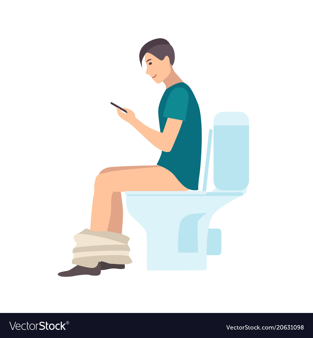 Man Sitting On Toilet Cartoon | Cartoonjdi.co