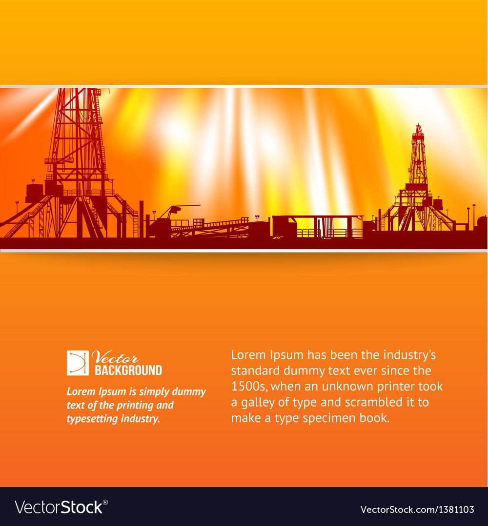 Abstract oil rig background vector image