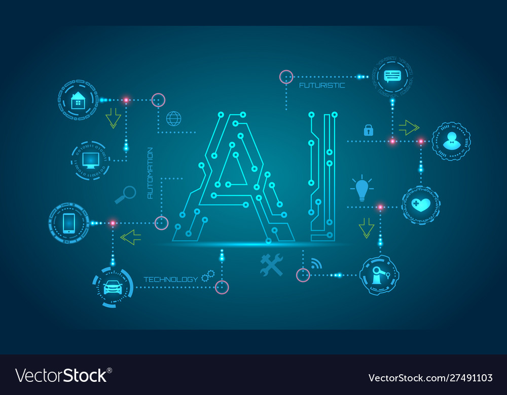 Ai artificial intelligence concept machine