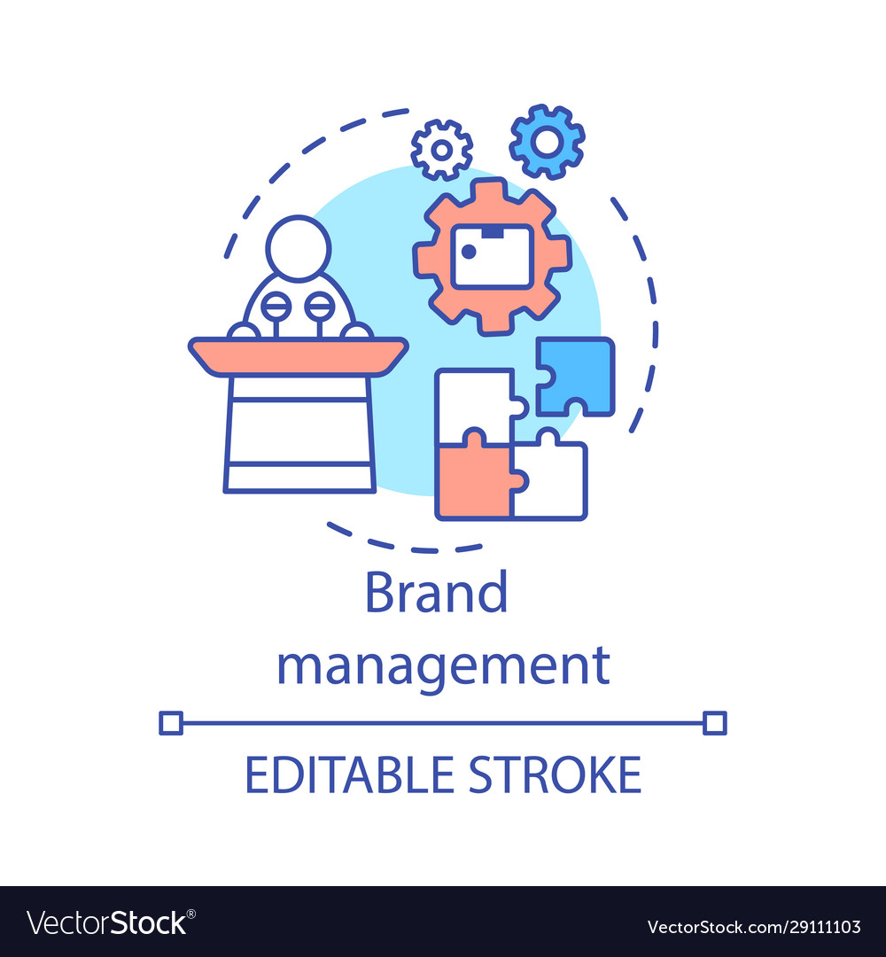 Brand Management Concept Icon Royalty Free Vector Image