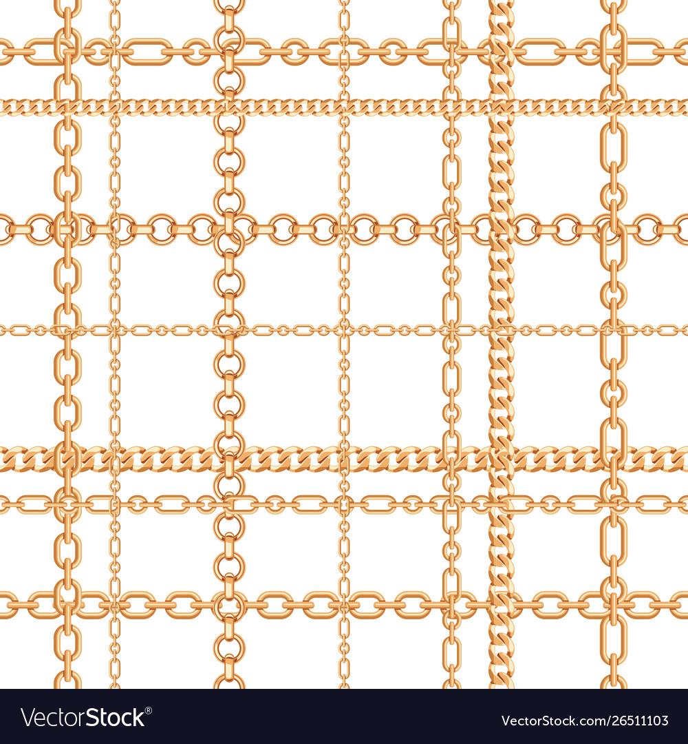 Gold chains seamless pattern
