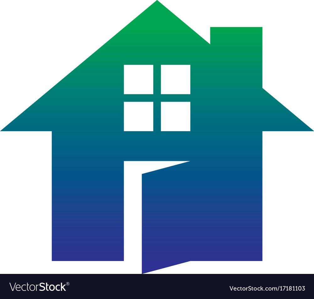 Home icon contruction logo