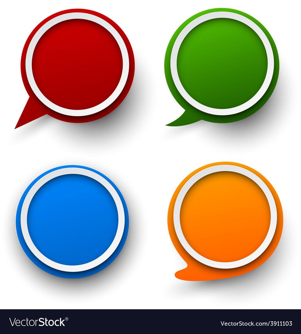 paper set of round speech bubble royalty free vector image rh vectorstock com bubble vector free bubble vector free download