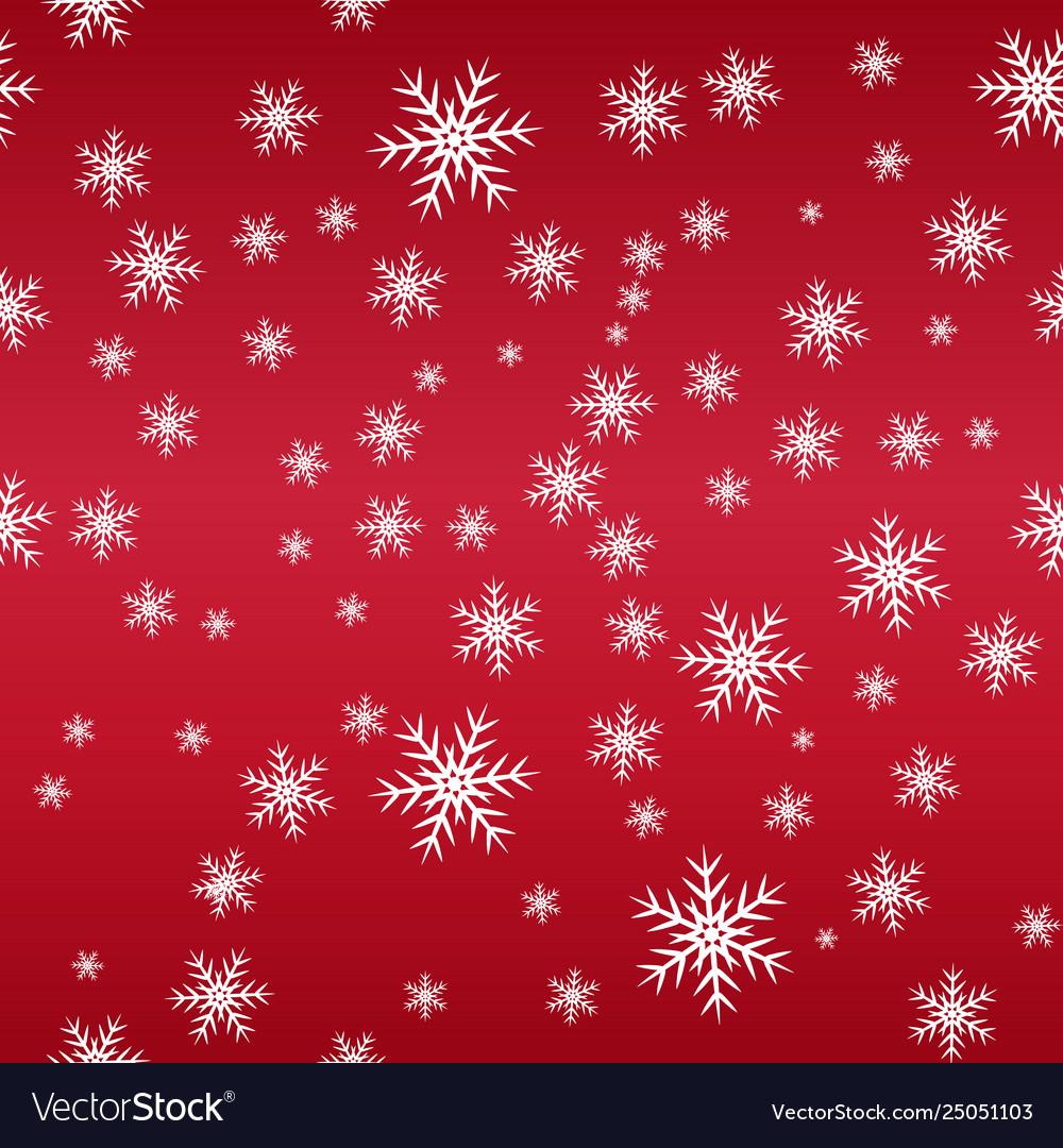 Seamless snow pattern simple white