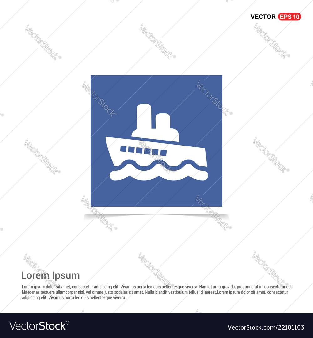 ship icon blue photo frame vector 22101103 ship icon blue photo frame royalty free vector image
