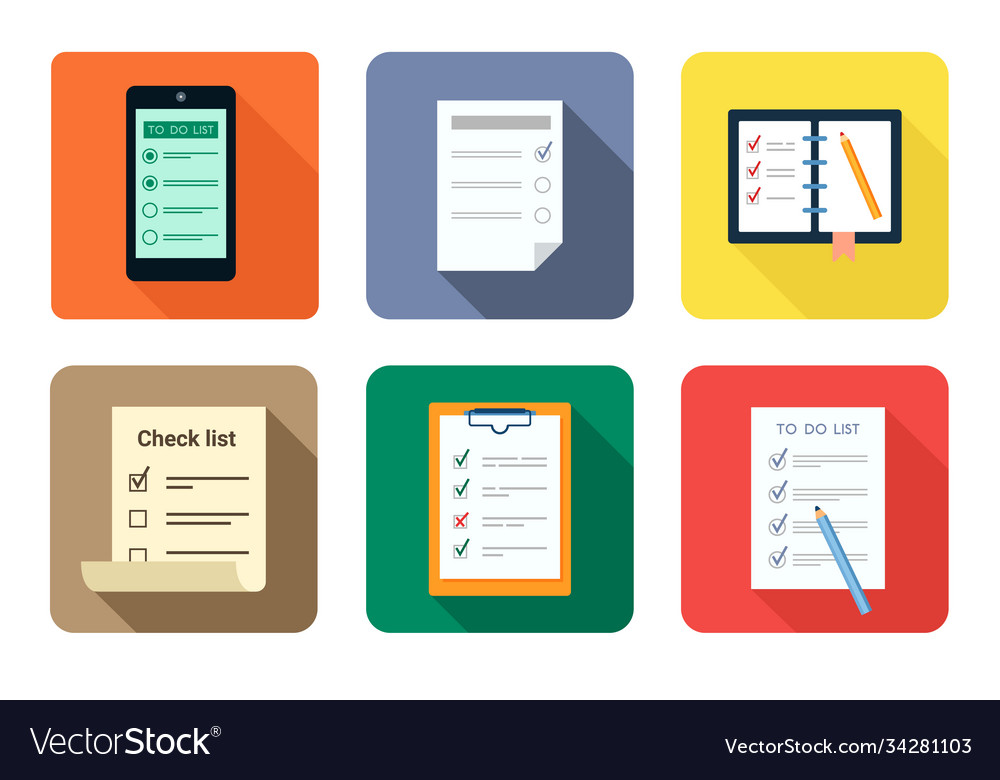 To do checklist set questionnaire document with