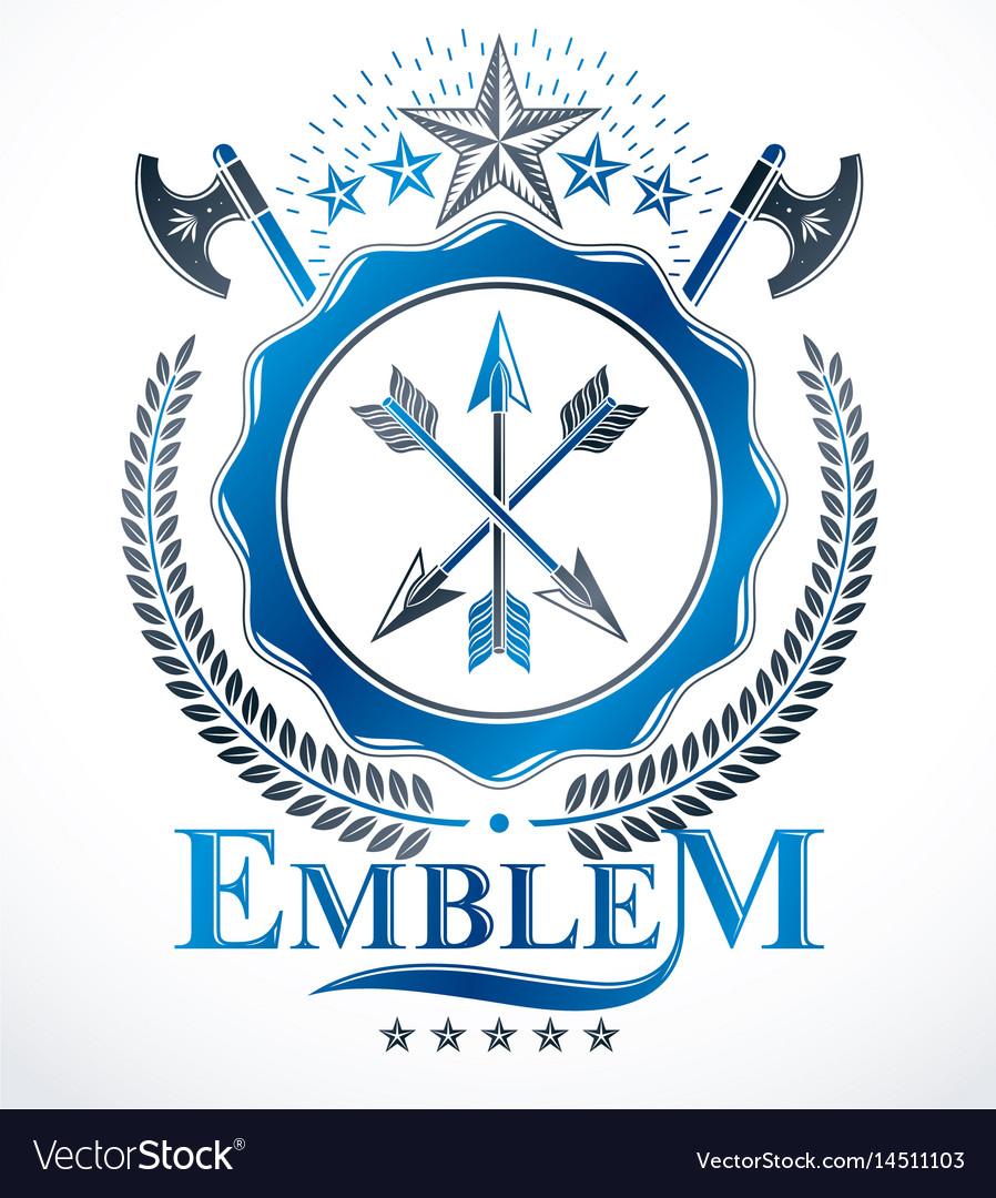 Vintage heraldry design template emblem