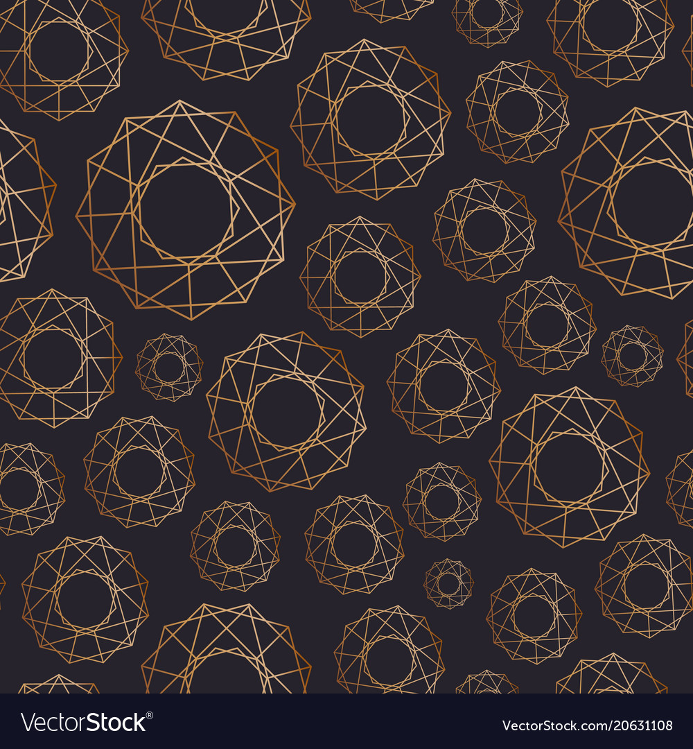 Abstract seamless pattern with geometric shapes of