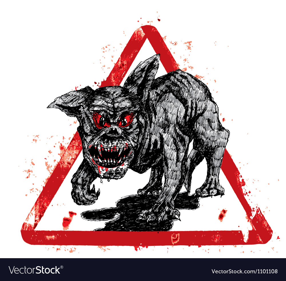Black hell dog