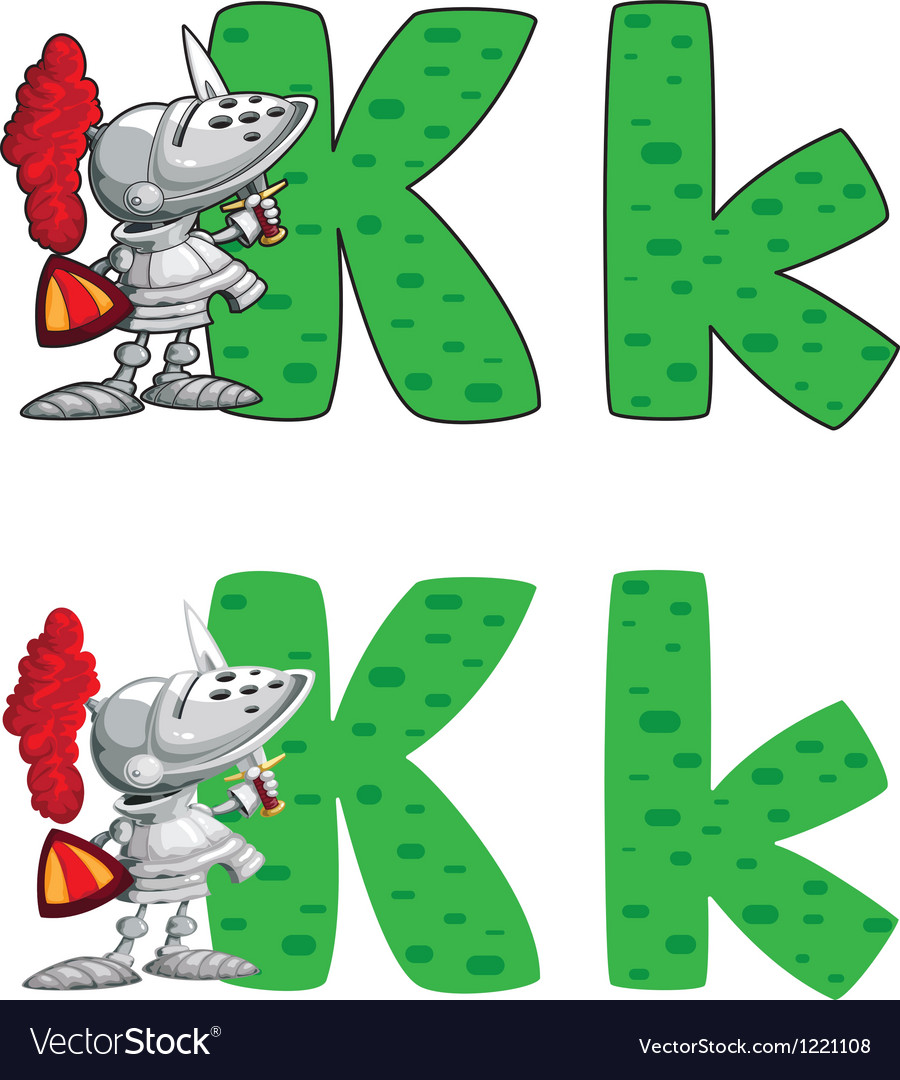 Letter K knight