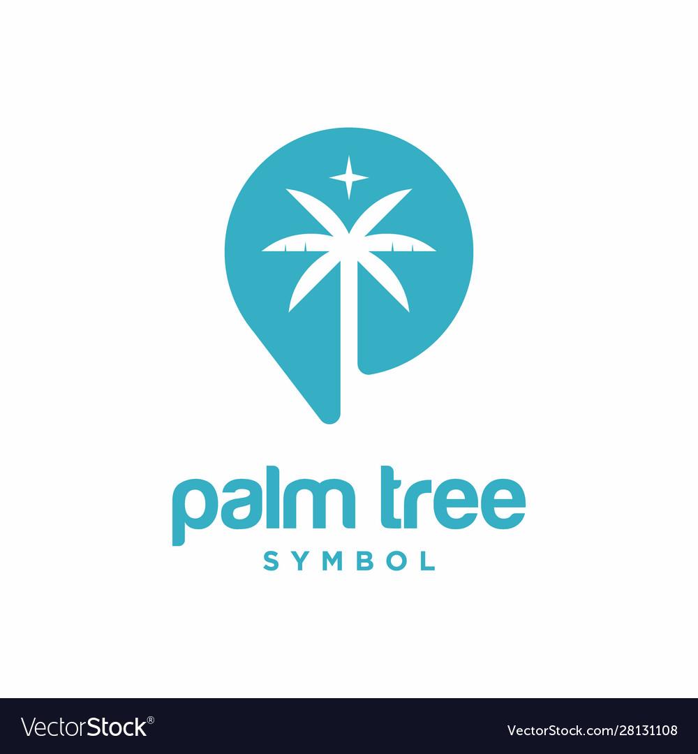 Palm tree symbol logo template