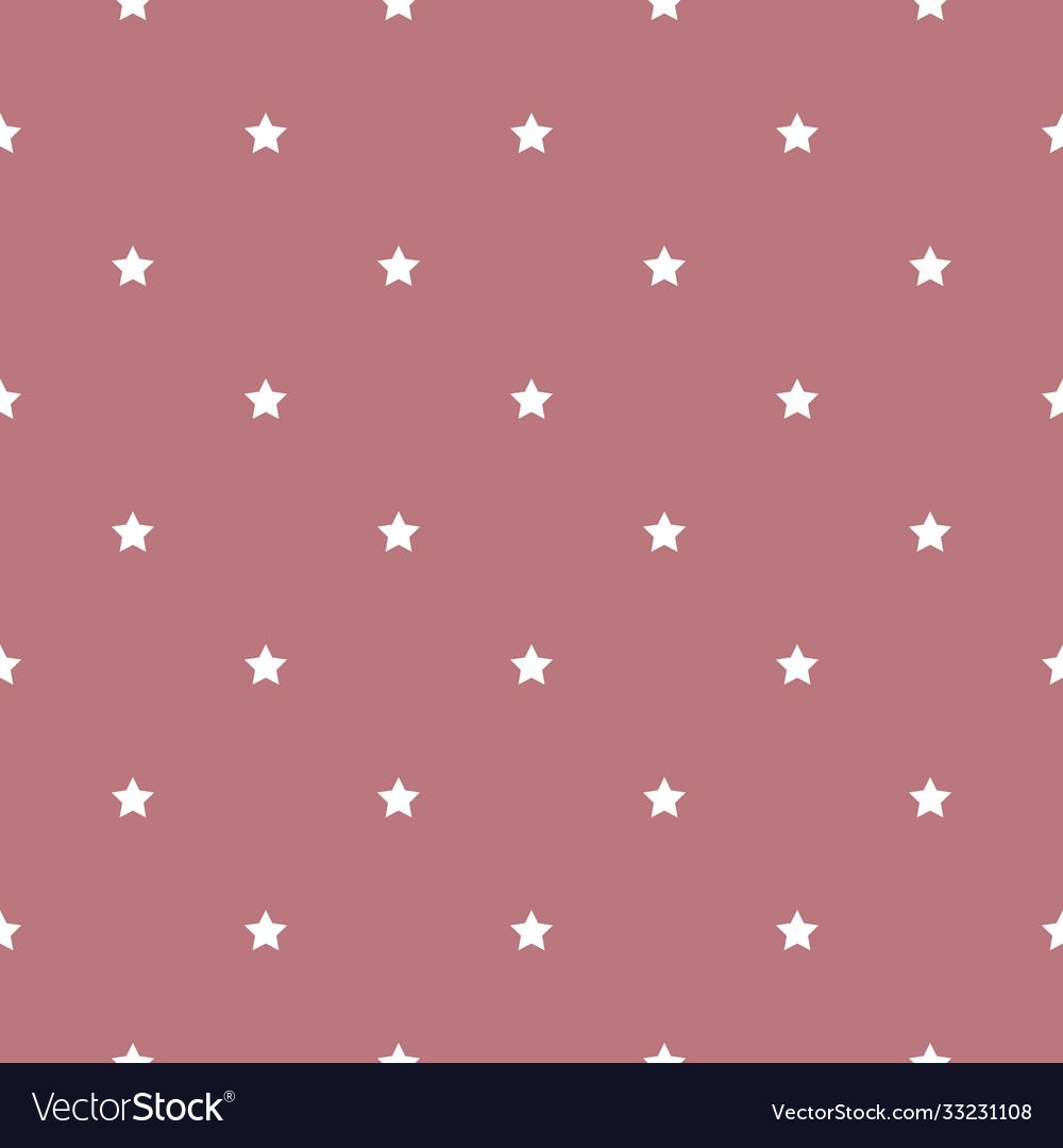 Seamless star pattern white stars on a pink