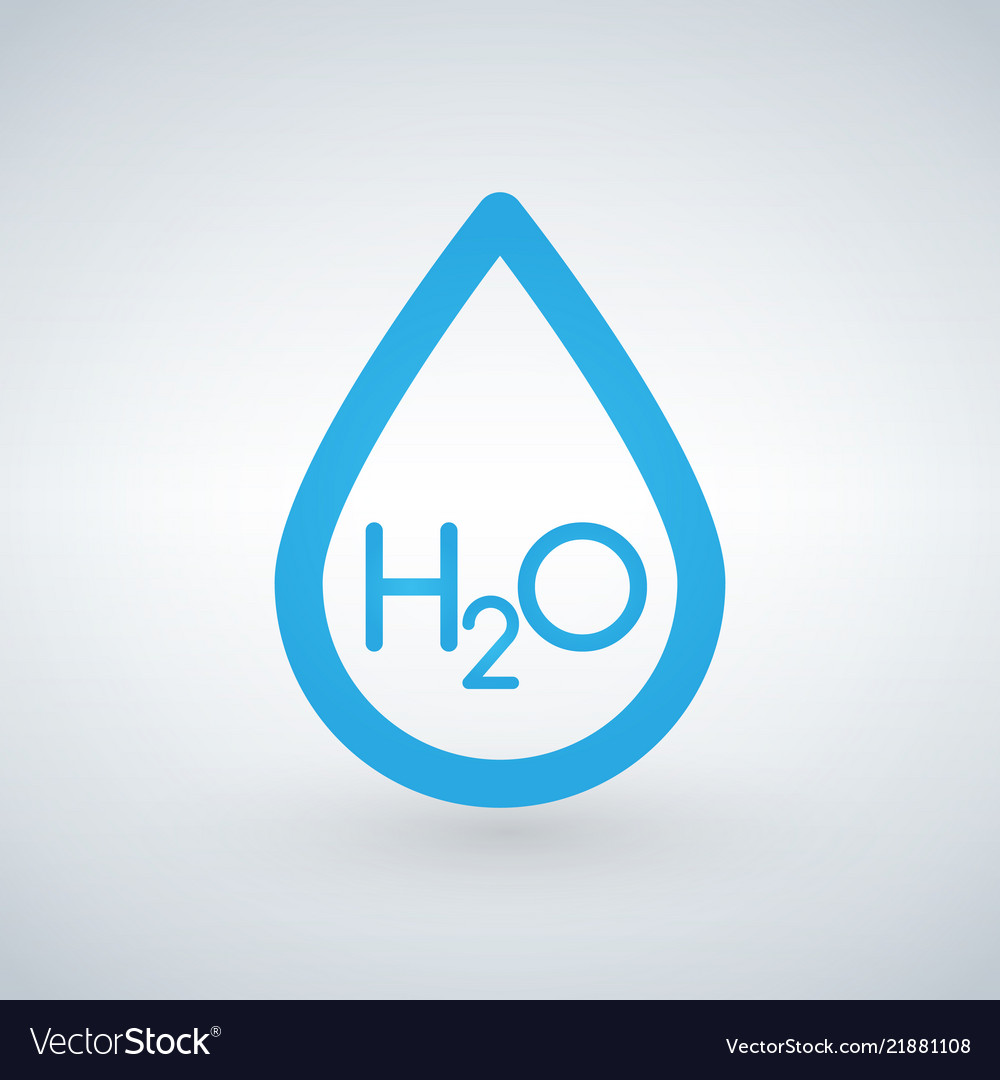 Water h2o drop line icon outline sign linear