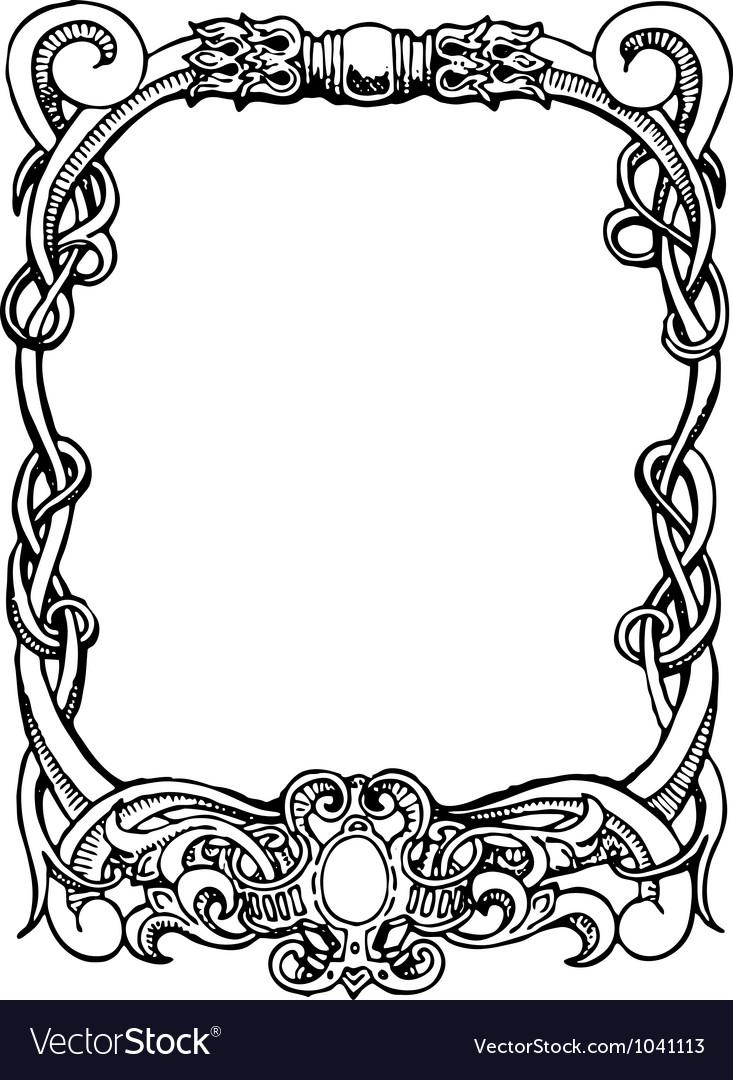 art nouveau frame royalty free vector image vectorstock rh vectorstock com art nouveau vector pattern art nouveau victor horta