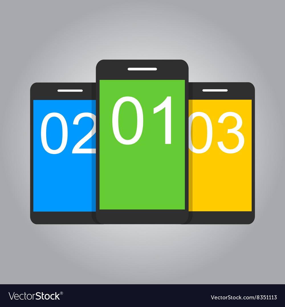 Concept for mobile apps Flat design