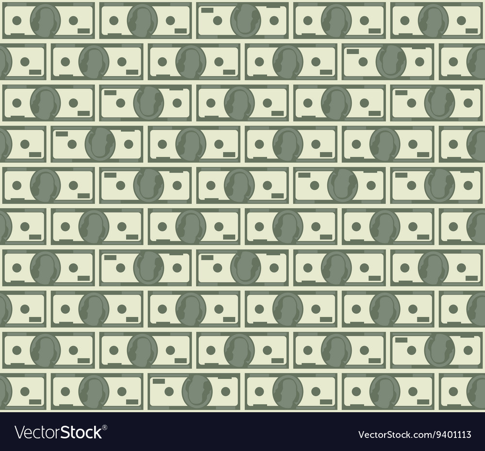 Dollars seamless pattern